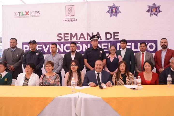Clausuran con éxito Semana de Prevención del Delito en Xicohtzinco