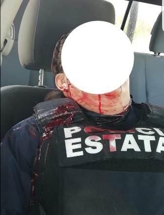 Caen dos policías a manos de delincuentes en Quilehtla