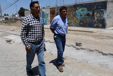 Avance de la obra en la calle Reforma de Panzacola es del 80 %: alcalde