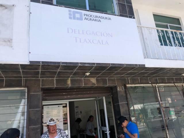 Ejidatarios de Zacatelco se plantan en Procuraduría Agraria, piden nueva elección