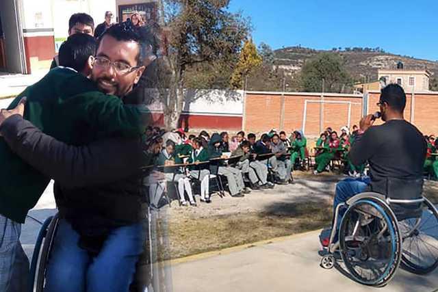 Atleta Paralímpico ofrece plática motivacional a jóvenes de secundaria