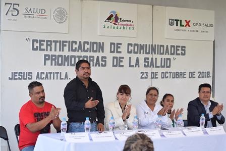 Certifican a Acatitla como comunidad promotora de la salud