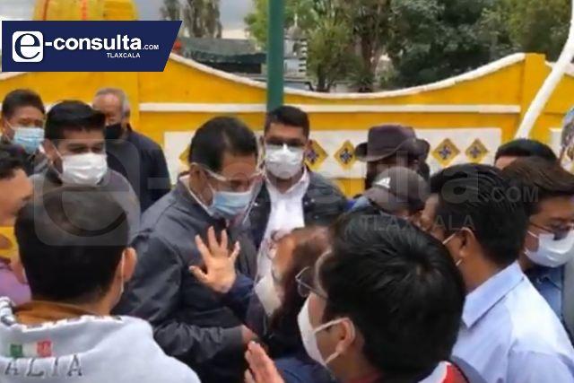 Vuelven a manifestarse en SPM para respaldar el proyecto del ex panteón