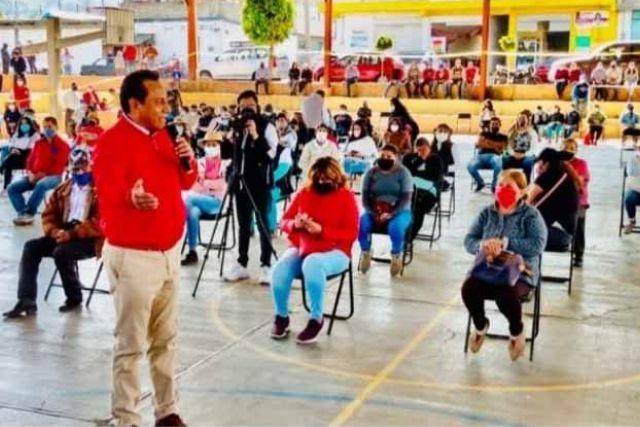 SAGA da banderazo al arranque de campaña del candidato Alfredo Vázquez en Panotla