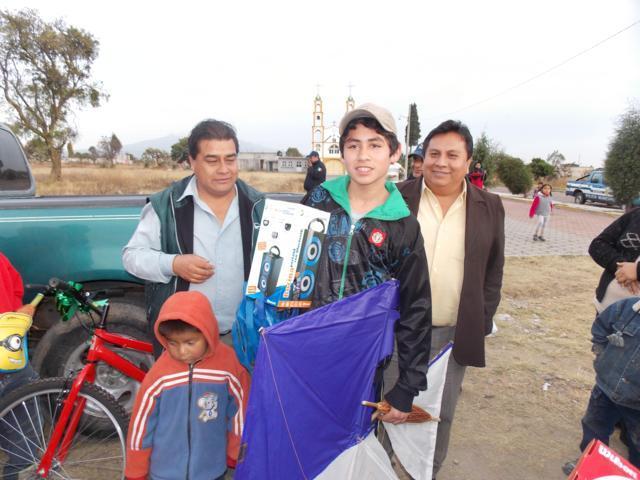 Primer concurso de papalotes en Xiloxoxtla