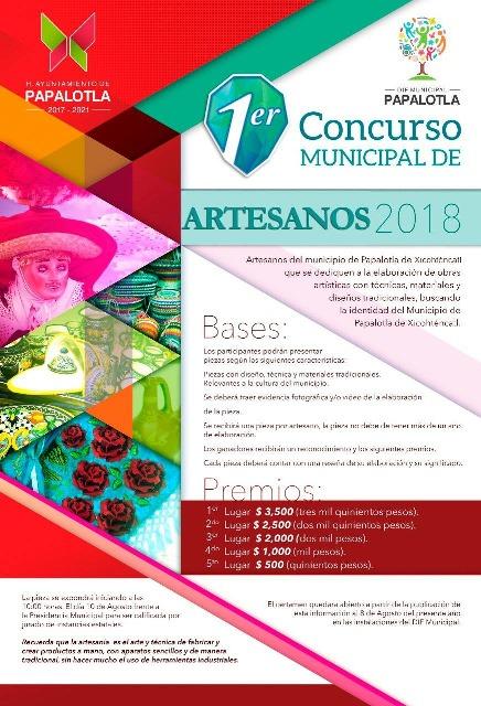 Lanzan convocatoria del primer concurso de artesanías en Papalotla