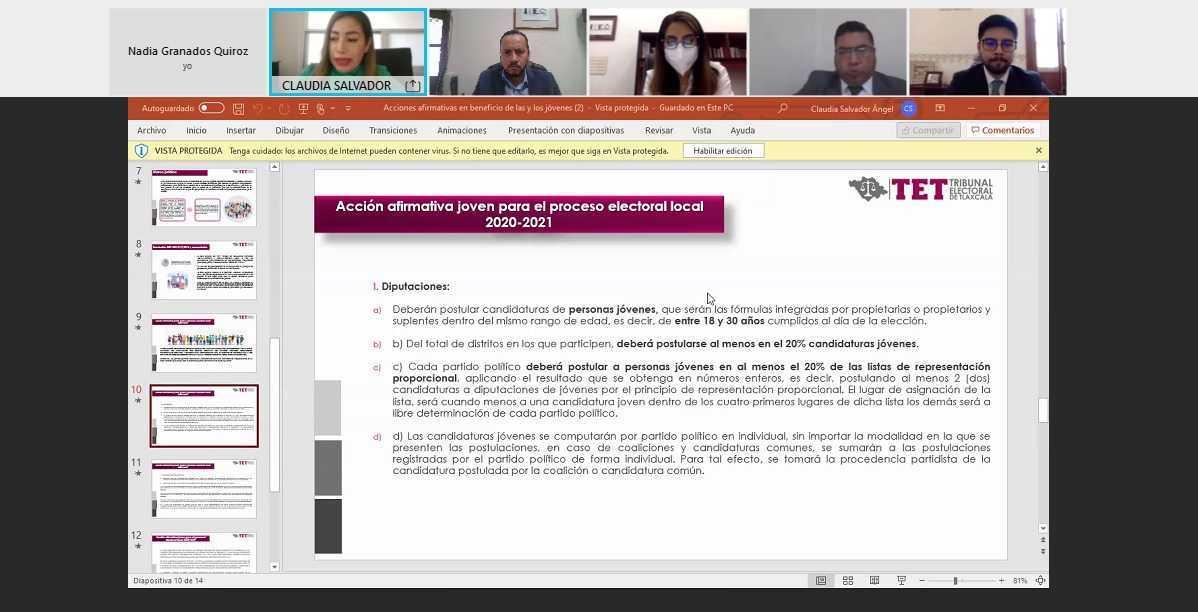 Insuficiente el marco legal para participación de jóvenes en cargos de elección: Claudia Salvador