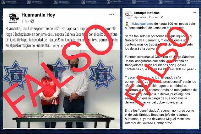 El Gobierno de Huamantla exhorta a no compartir publicaciones falsas.