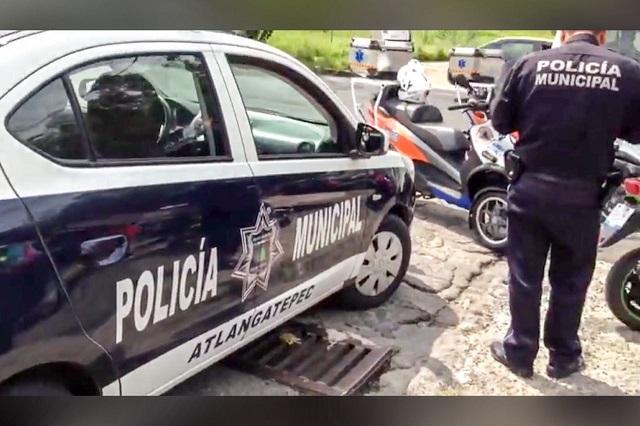 Patrulla de Atlangatepec provoca causa accidente en Puebla