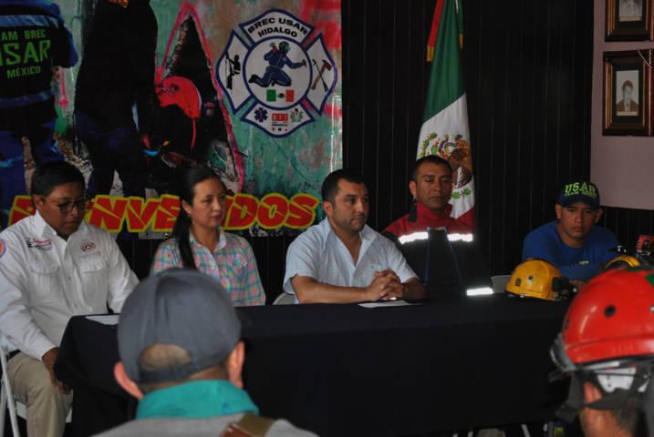Calpulalpan fue sede nacional del curso de BREC de Protección Civil