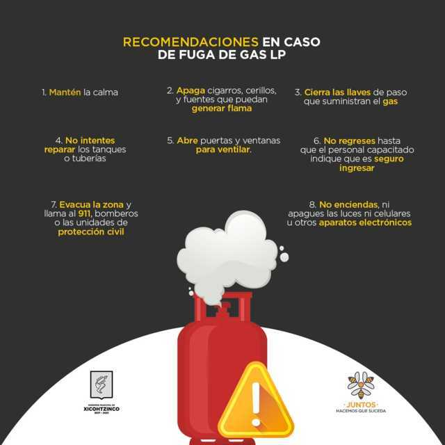 Promueven en Xicohtzinco recomendaciones para evitar accidentes por mal manejo de gas LP