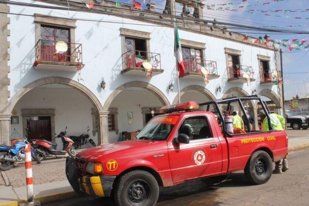 Protección Civil de Yauhquemehcan desarrolla acciones preventivas por Covid-19
