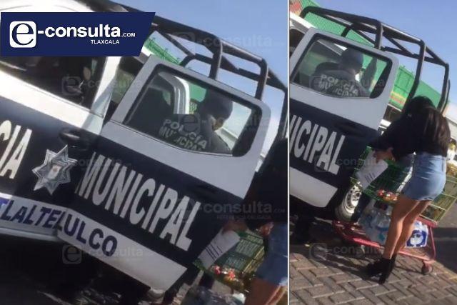 Alcalde Pedorro permite que las patrullas de Tlaltelulco las usen de taxis