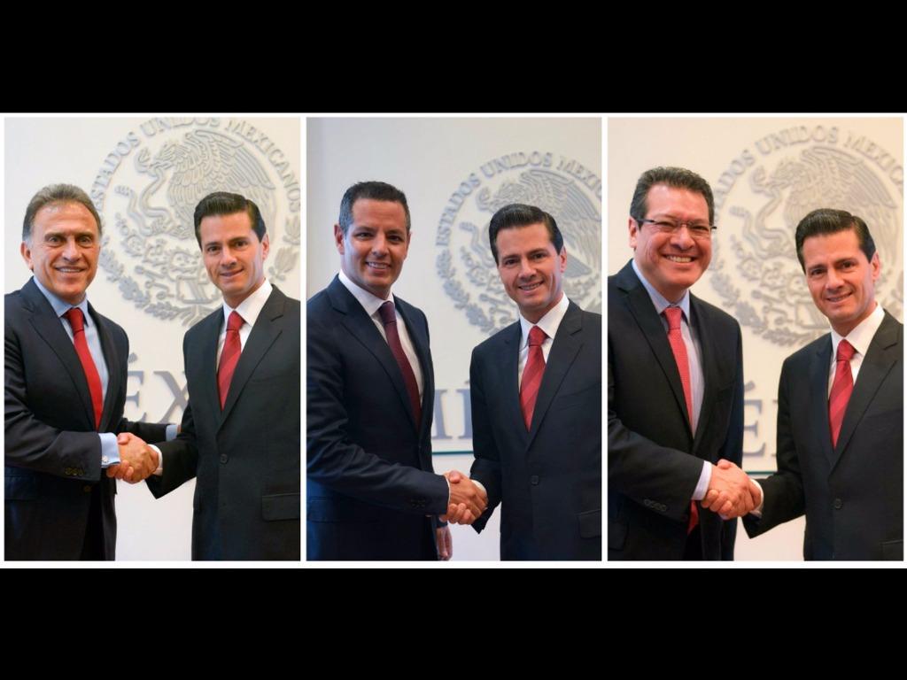 Se reunió el Presidente Enrique Peña Nieto con los gobernadores electos de Veracruz, Oaxaca y Tlaxcala