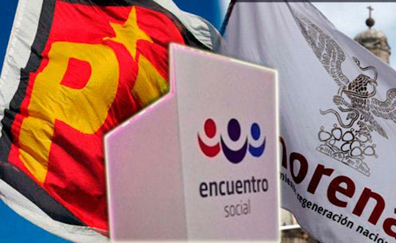 MORENA- PT- PES van por contrapeso al gobierno del estado