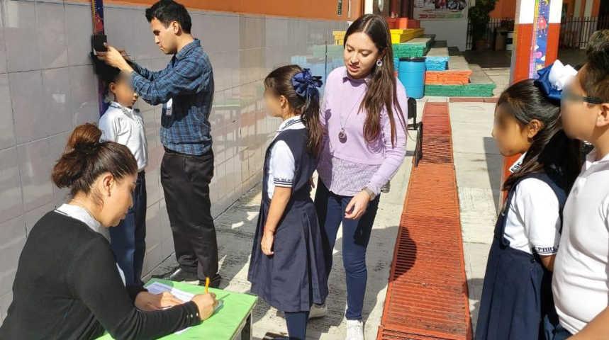 Actualizan Registro Nacional de Peso y Talla en Colegio Guillermo Valle