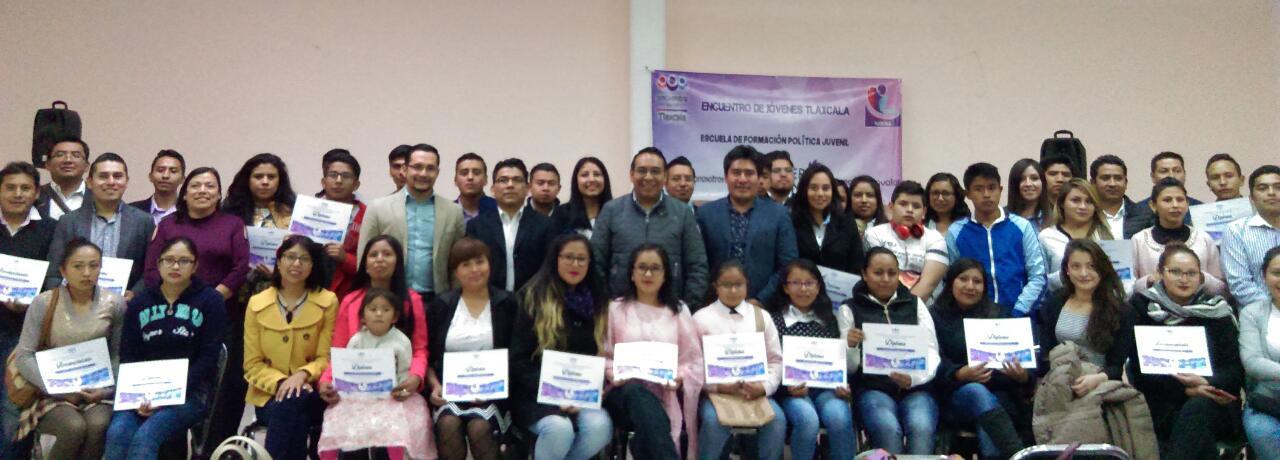Se gradúan jóvenes del semillero juvenil del PES en Tlaxcala