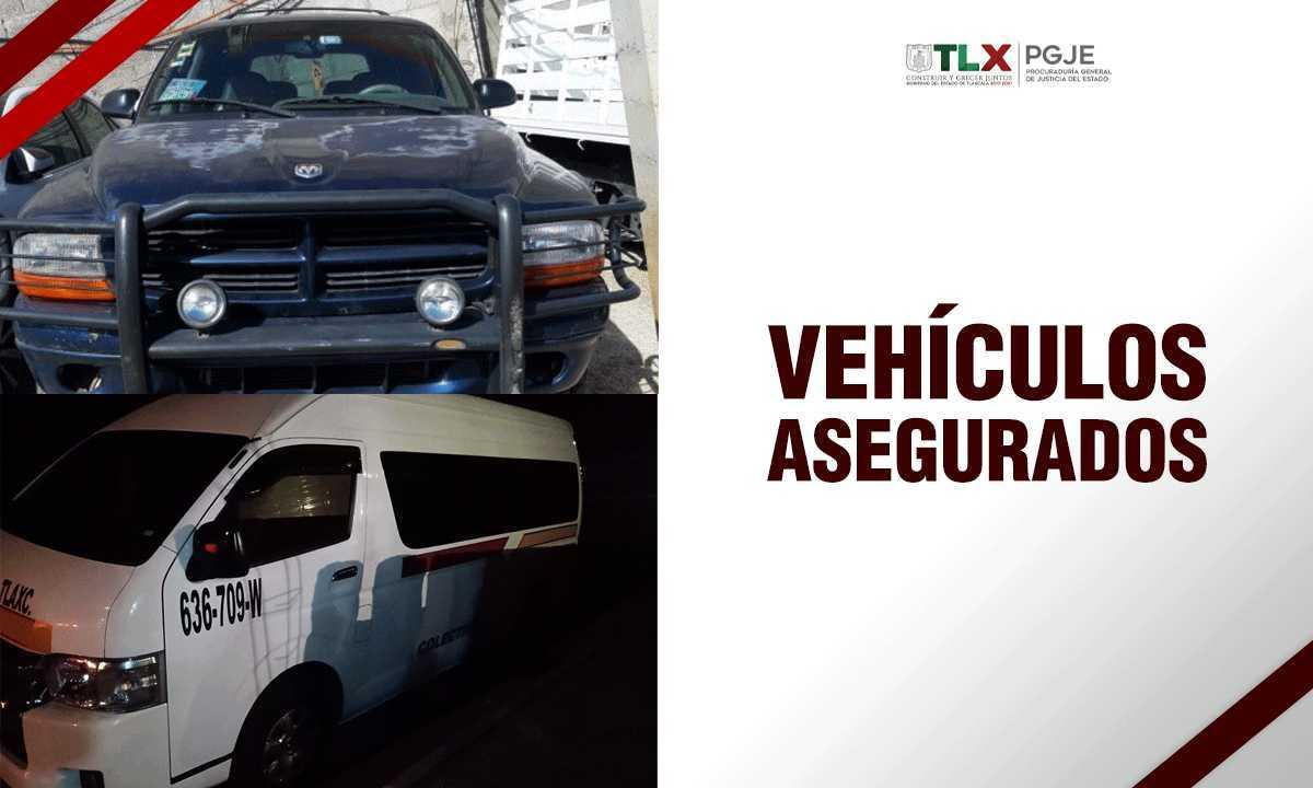 Recupera PGJE dos camionetas con reporte de robo en Tlaxcala
