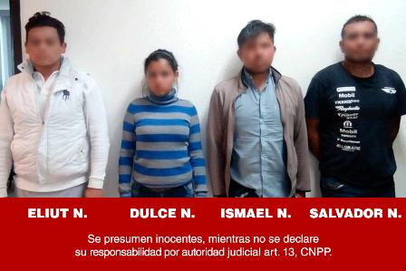 Atrapan a cuatro imputados por presunto narcomenudeo