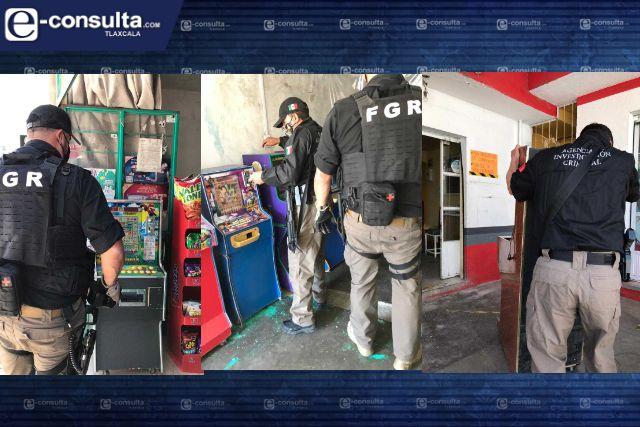 Elementos de la PFM aseguran 21 máquinas tragamonedas en Tlaxcala