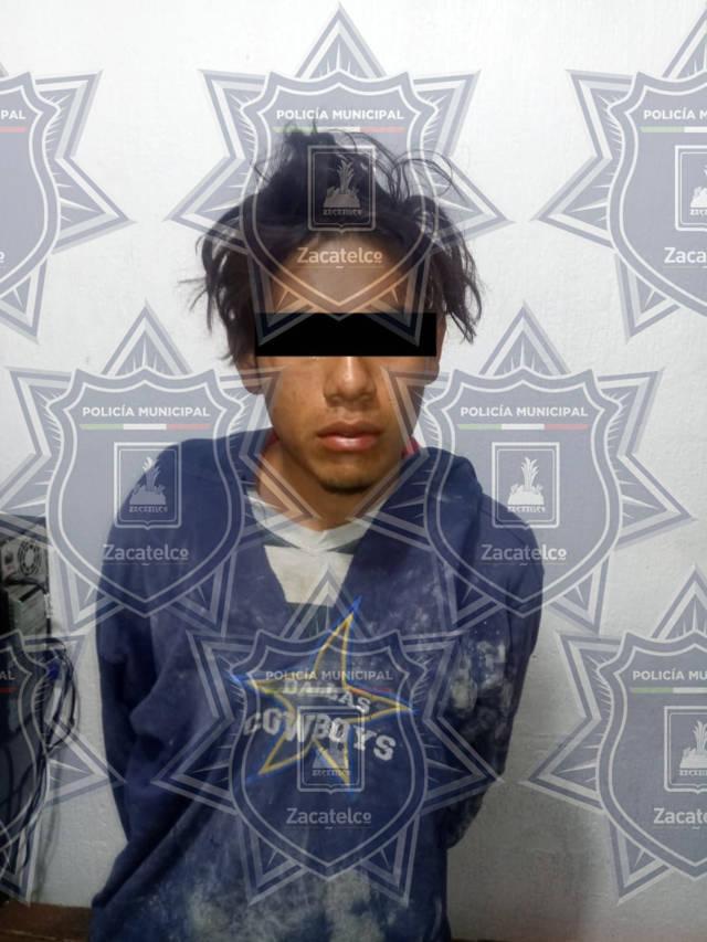 Policía municipal frustra robo a tienda de celulares y detienen al presunto ladrón