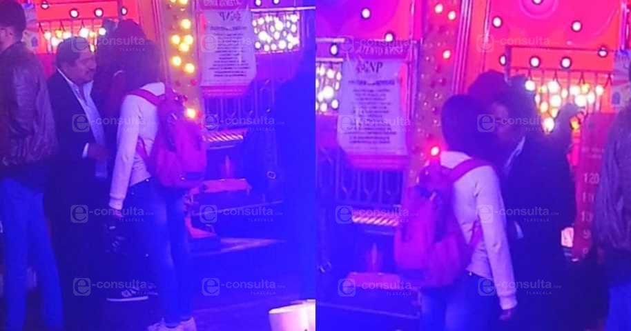 Cachan a Alcalde de Panotla Borracho y Besando Menor de Edad en la Feria de Tlaxcala