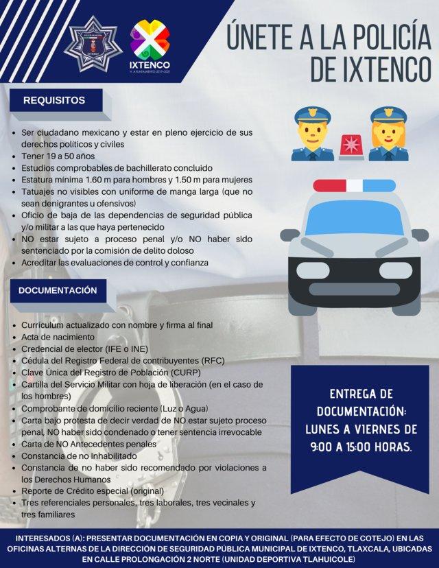 En Ixtenco, continua reclutamiento de elementos policíacos