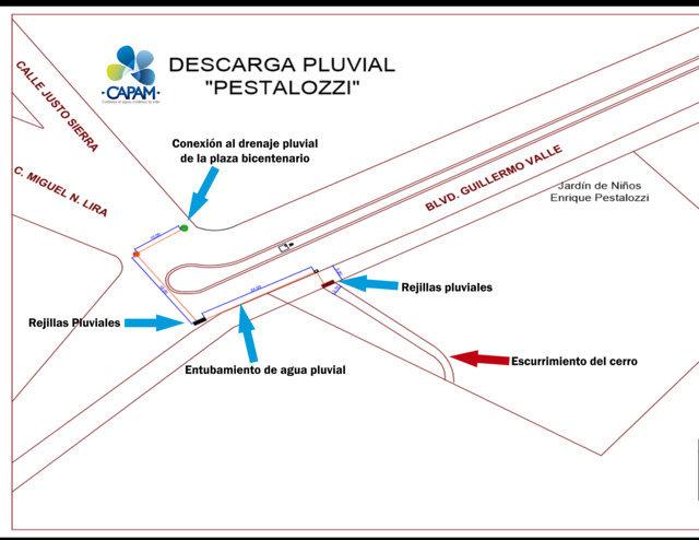 Dará CAPAM solución definitiva a escurrimientos en el Kinder Pestalozzi