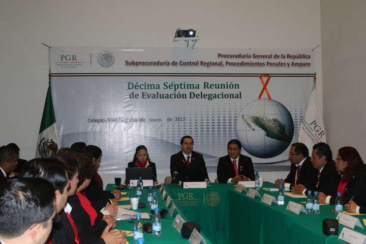 PGR Tlaxcala realiza décima séptima reunión de evaluación delegacional