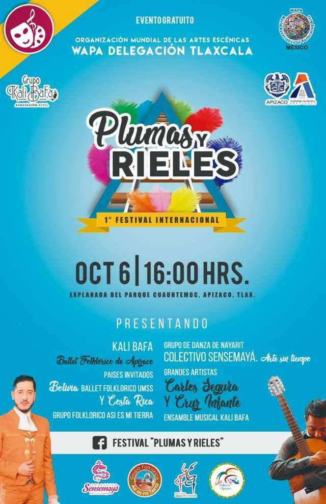 Apizaco, sede del 1er. Festival Internacional de Danza Folklórica, 'Plumas y Rieles'