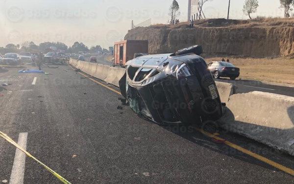 Fallece luego de tener un accidente en el periférico de Tlaxcala