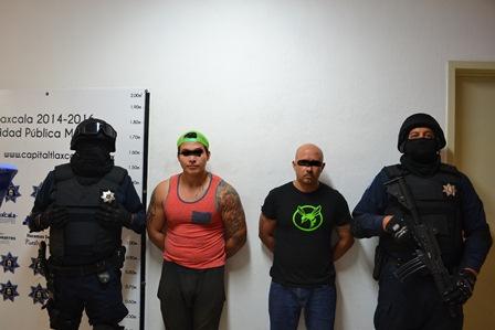 Detienen a sujetos en La Loma Xicohténcatl en posesión de droga