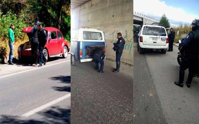 Efectúa policía capitalina filtros de revisión en la ciudad