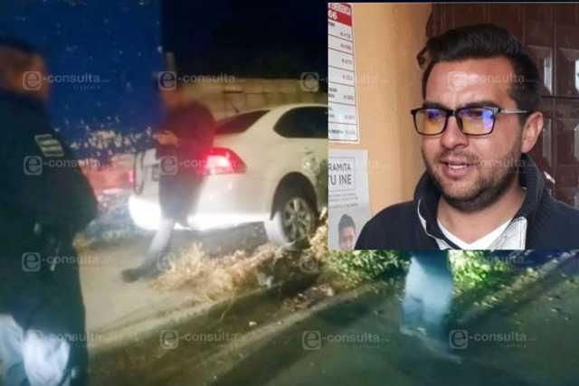 Jefe policiaco de Apetatitlán choca por borrachales