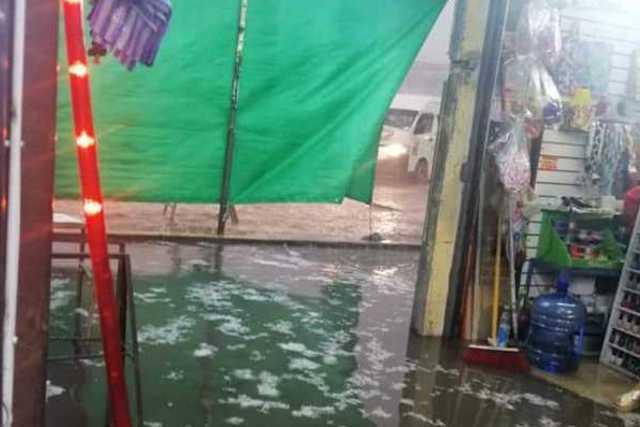 Tromba dejó afectaciones en viviendas en la capital del estado