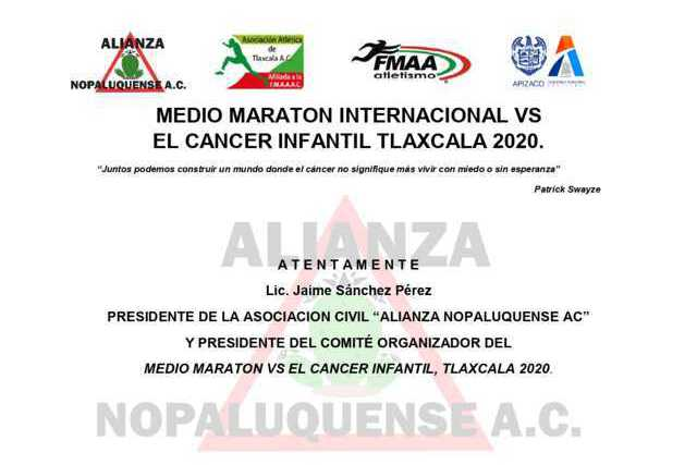 Apizaco será sede de Primer Medio Maratón