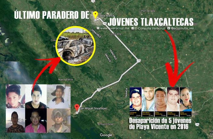 La historia se repite: último paradero de jóvenes tlaxcaltecas fue Tierra Blanca