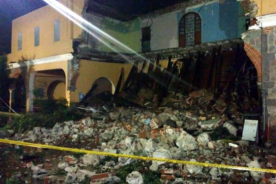 Portal Hidalgo que se derrumbó es del ayuntamiento: Ordóñez