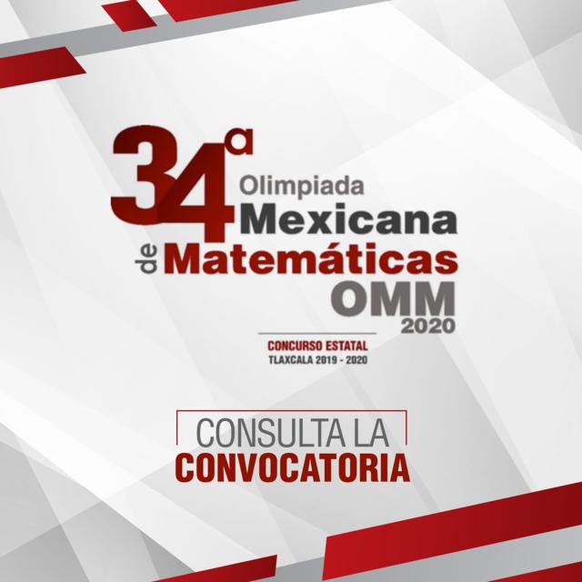 Convoca SEPE a 34ª Olimpiada Mexicana de Matemáticas