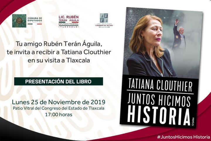 Todo listo para la presentación del libro de Tatiana Clouthier en Tlaxcala