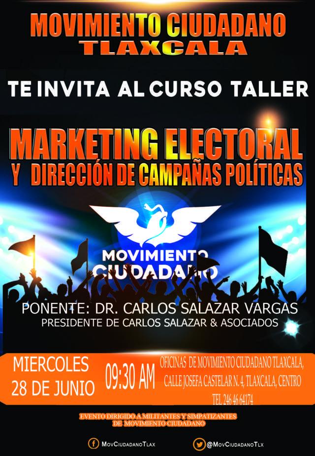 Carlos Salazar Vargas, dictará Curso Taller en MC en Tlaxcala