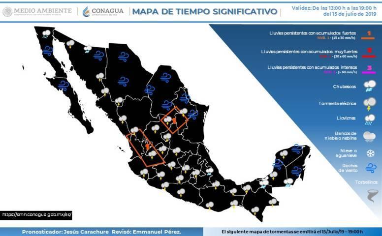Para hoy se pronostican lluvias con intervalos de chubascos en Tlaxcala