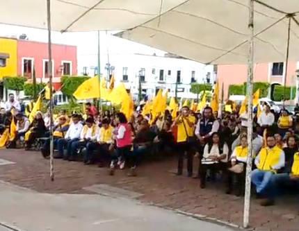 Con pírrico evento celebran 29 años del PRD en Tlaxcala