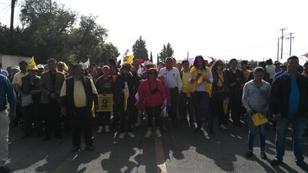 Protestan perredistas por cómputo de elección de gobernador