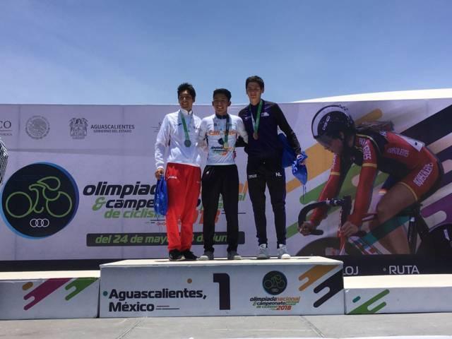 Medalla de plata para Tlaxcala en ciclismo de Olimpiada