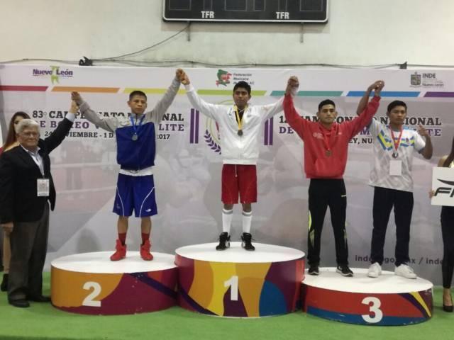 Tlaxcaltecas de oro en Nacional de Box