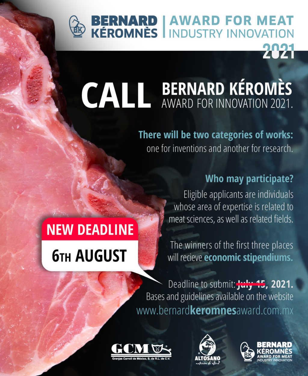 "Se amplia fecha para participar en el ""Premio A La Innovacion Bernard Kéromnès"""