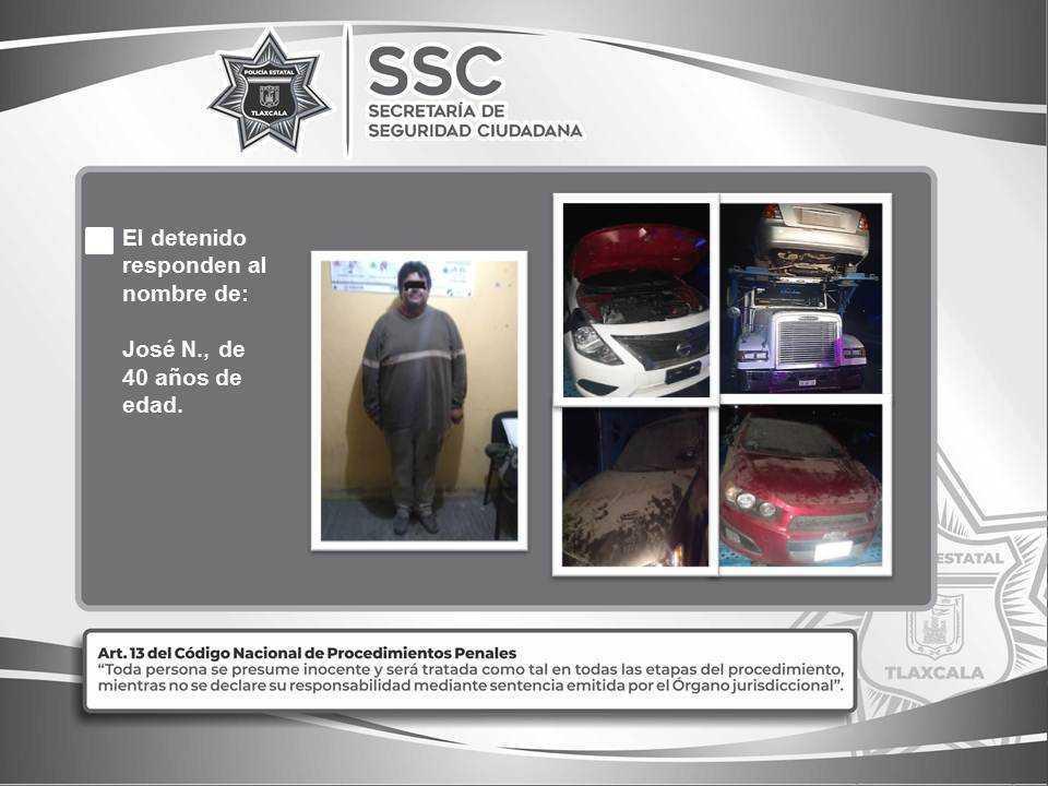 La SSC detiene en Cuapiaxtla a una persona que trasportaba vehículos con reporte de robo