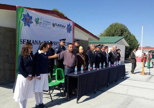 Arranca Semana de Prevención del Delito en Altzayanca