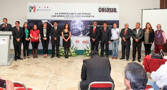 Conmemora PRI el XXIV aniversario luctuoso de Colosio